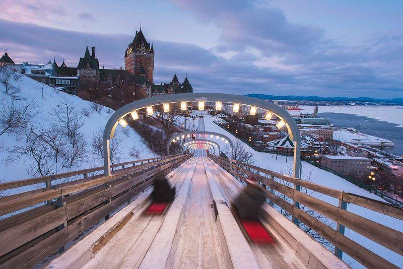 Quebec City Winter Toboggan Ride