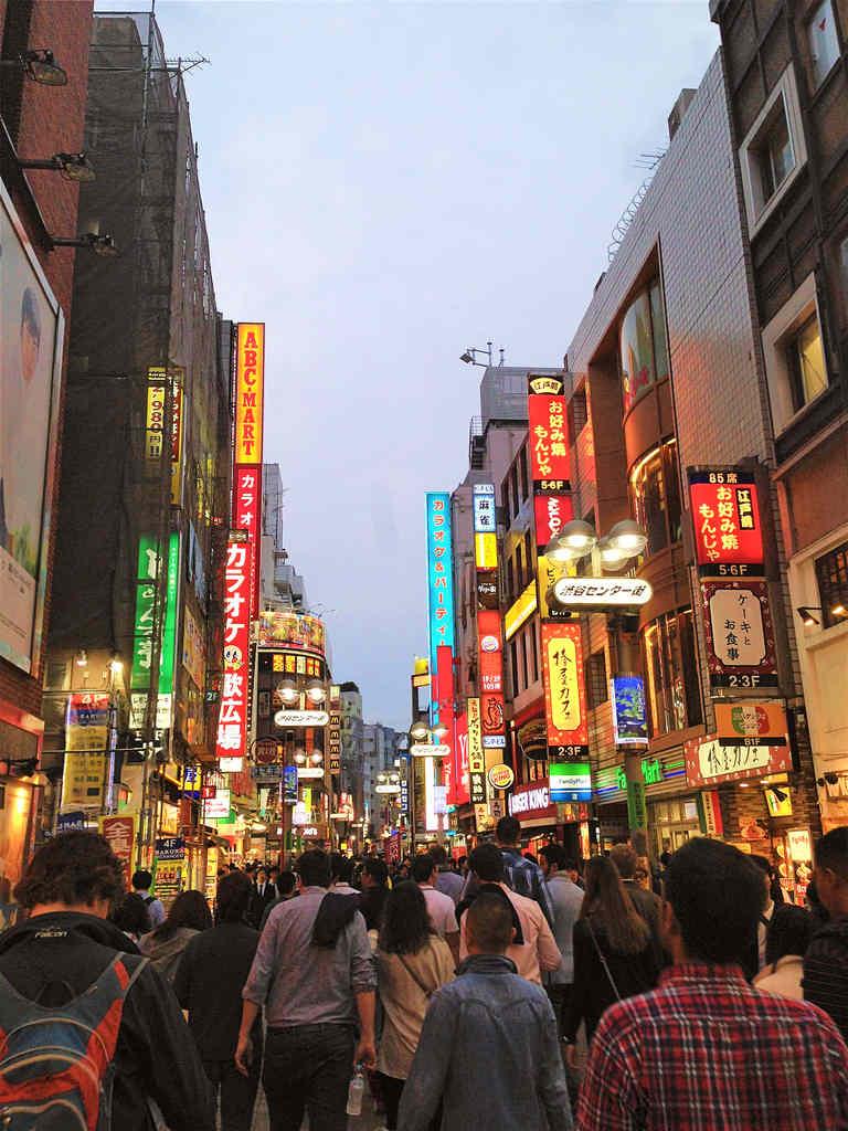 Tokyo Akihabara street in the evening