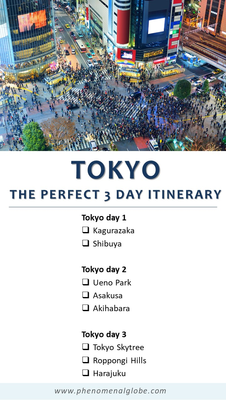 The perfect 3-day itinerary for Tokyo, Japan! Including how to travel Tokyo on a budget, the best things to do in Tokyo, transport information, where to find delicious Japanese food and more! #Tokyo #Japan