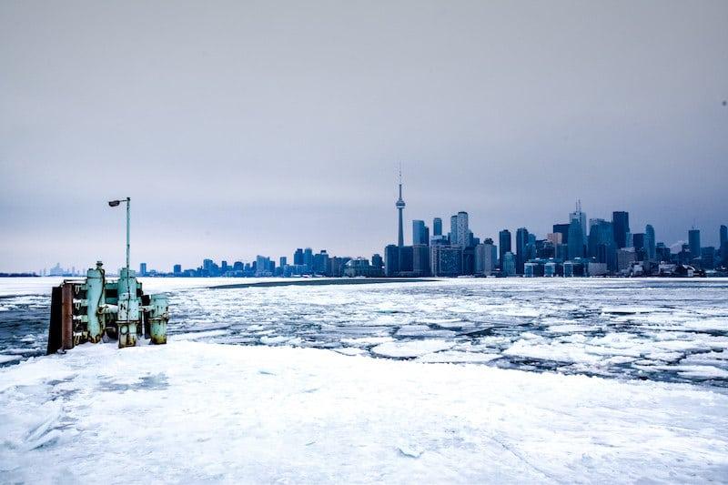 Toronto Islands in Winter