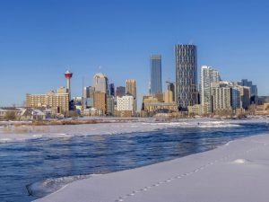 Calgary winter skyline