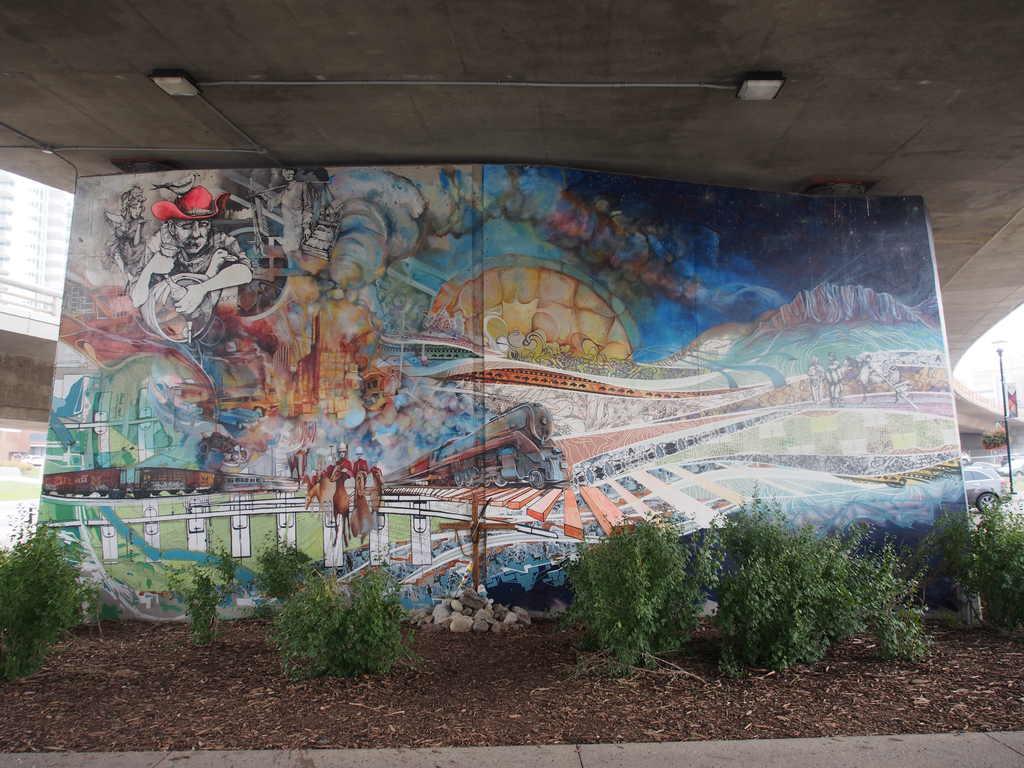 Colorful graffiti in Calgary