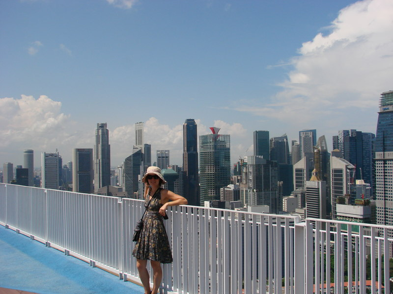 Rooftop garden at the Pinnacle at Duxton building in Singapore