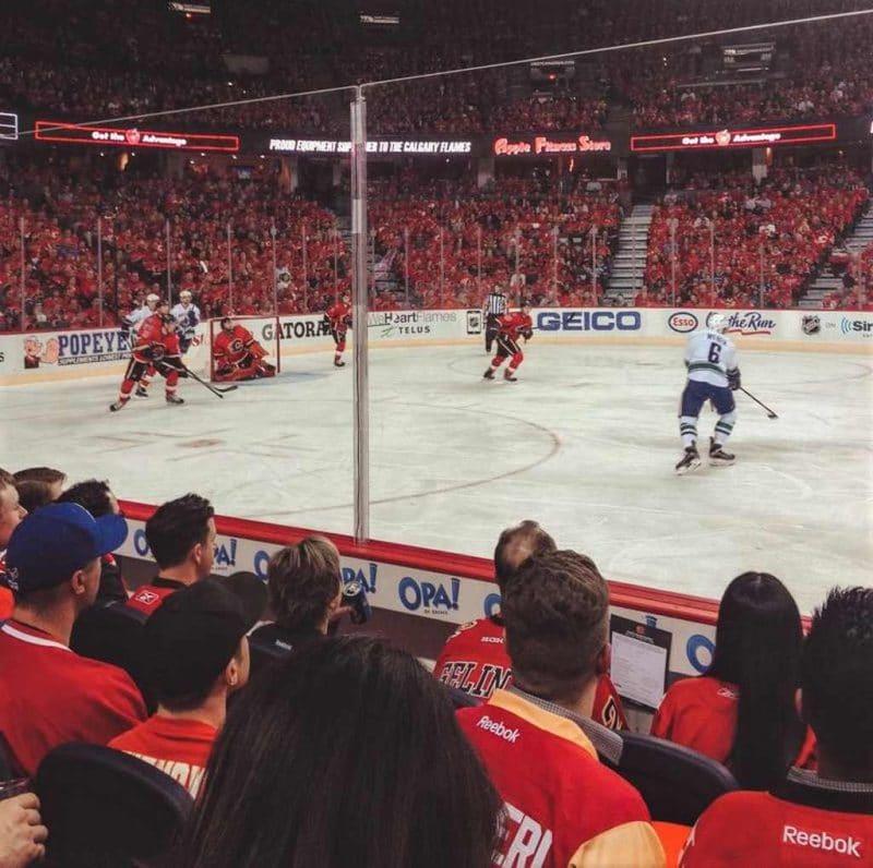 The Calgary Flames - ice hockey match