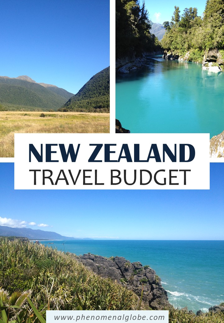 How to travel New Zealand on a budget! A trip to New Zealand doesn't have to be expensive, we spent €100/160 NZD per day during our road trip across New Zealand. Read a detailed budget breakdown and information about the costs of renting a camper van, campsites expenses, petrol prices and how much we paid for food & activities in New Zealand. #NewZealand #NZ #roadtrip