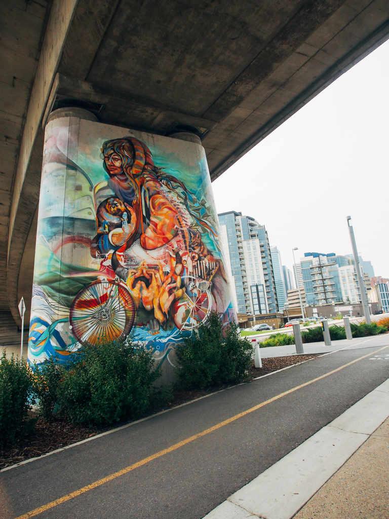 Underpass with graffiti in Calgary