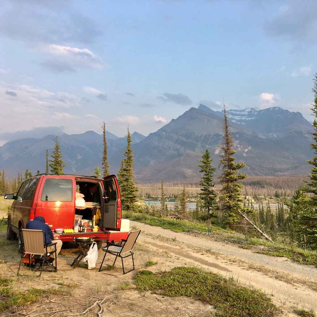 Camping in the Canadian Rockies Mountains Range