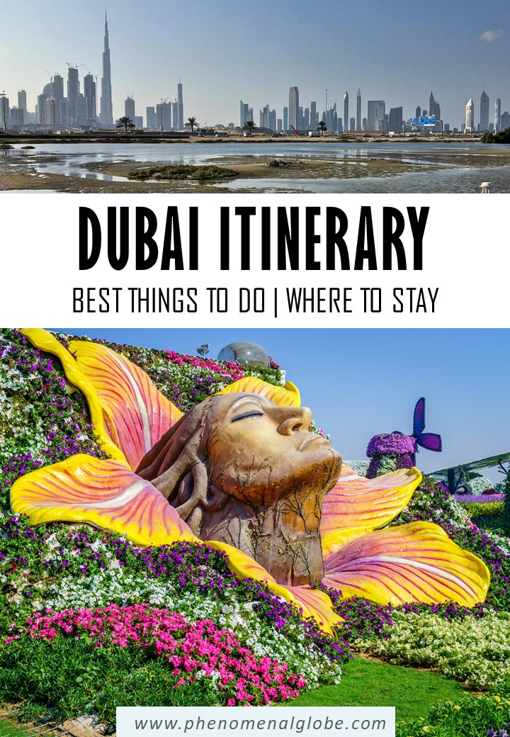 Detailed guide for a first-time visit to Dubai. 4-day Dubai itinerary with the best things to do in Dubai, where to stay in Dubai and a downloadable ma with all Dubai highlights. #Dubai #UAE