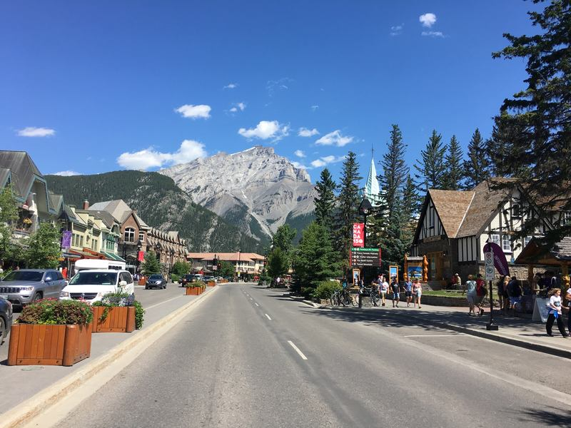 Banff village in Alberta, Canada
