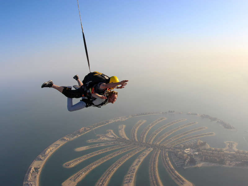 Skydiving over the Palm - Dubai UAE