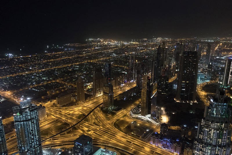 Sunrise at the Burj Khalifa - photo by Helen on her Holidays