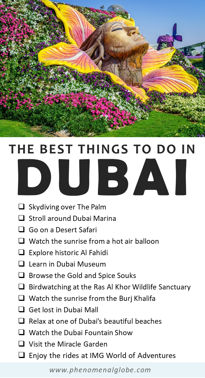 The best things to do in Dubai on a 4 day Dubai itinerary. #Dubai #UAE