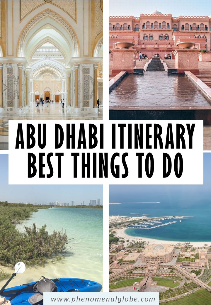 Looking for the perfect Abu Dhabi Itinerary to make the most of your 3 days in Abu Dhabi? This comprehensive city guide will give you plenty of tips! #AbuDhabi #UAE