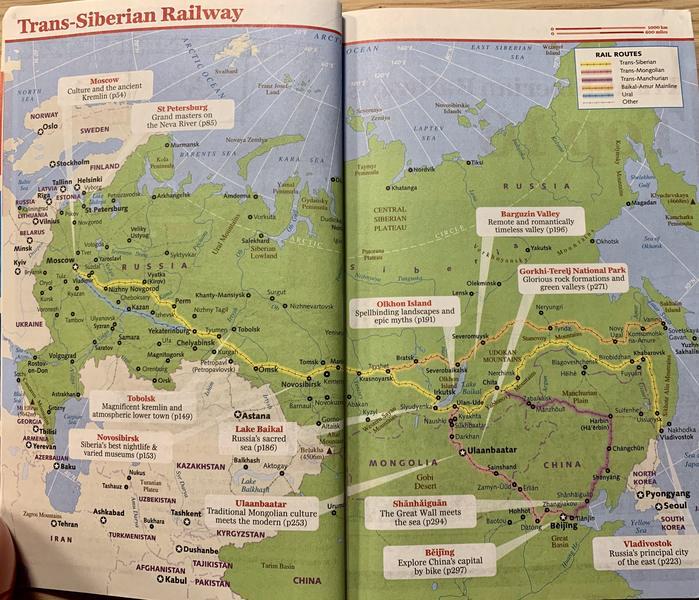 Rail routes Trans Siberian