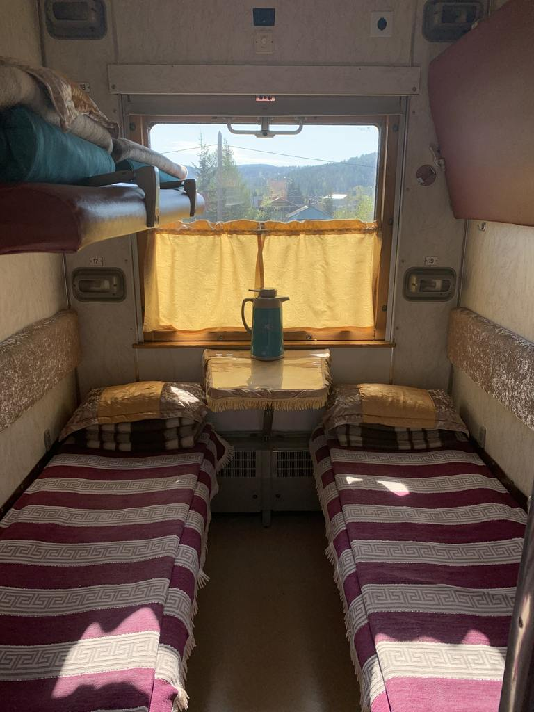 Second class compartment Trans Siberian