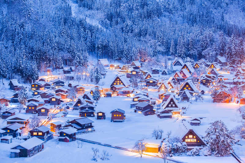 Shirakawago Village in winter