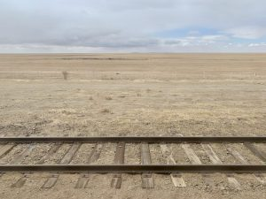Steppe of Mongolia from the train