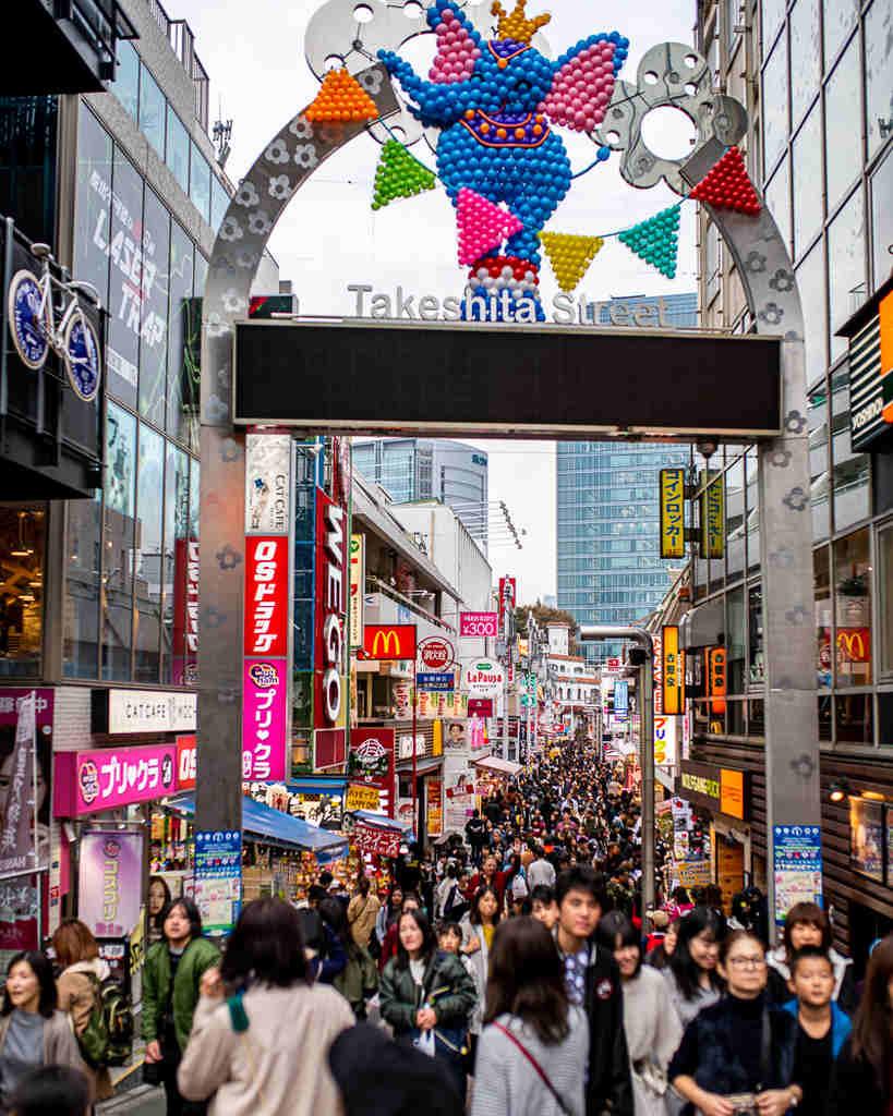 Takeshita Street Harajuku in Tokyo