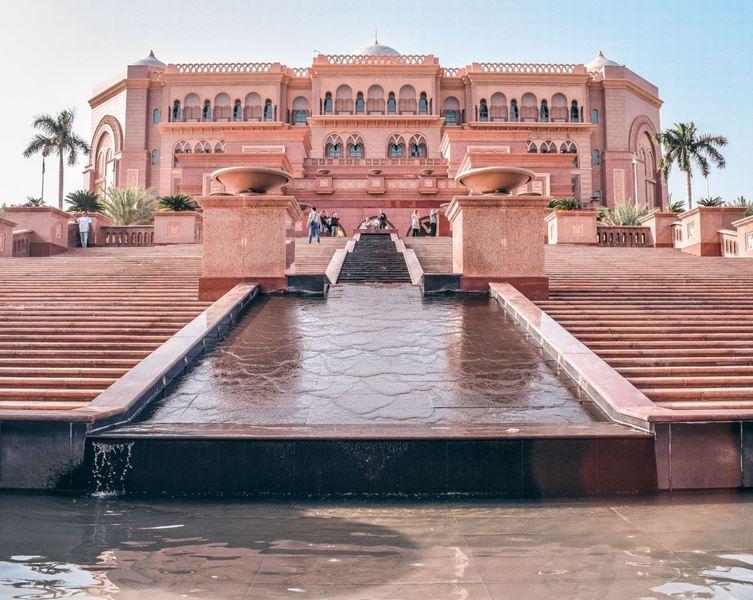 The Emirates Palace in Abu Dhabi