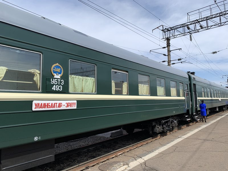 Train on the Trans Siberian Railway