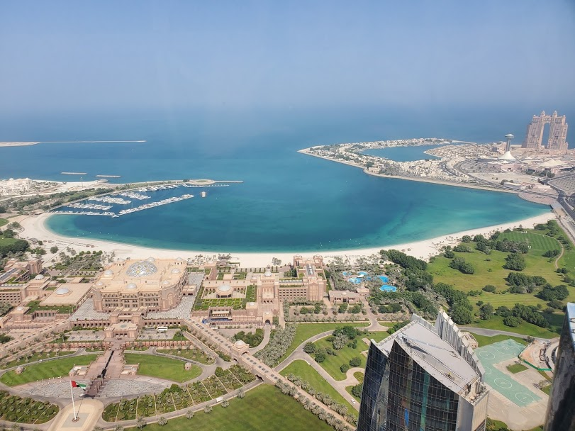 View of Abu Dhabi from Observation Deck at 300 - photo by The Travel Sisters