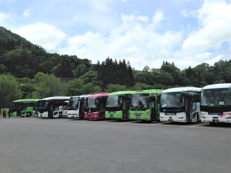 Bus Shirakawago Japanese Alps