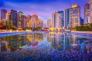 Taichung skyline by night