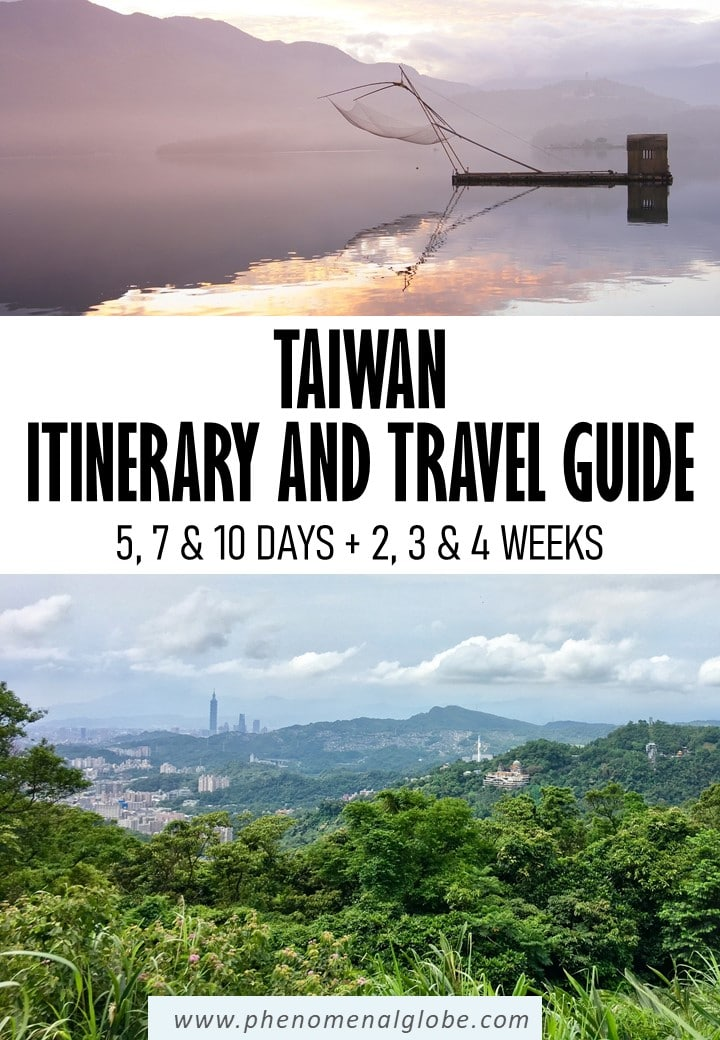Complete guide to plan the perfect Taiwan trip: itinerary (5, 7 and 10 days + 2, 3 and 4 weeks) with highlights plotted on a map so it's easy for you to find them. Detailed information how to get from A to B in Taiwan and useful travel tips how to make the most of your trip to Taiwan. Including Kaohsiung, Kenting National Park, Tainan, Taichung, Sun Moon Lake, Taipei and Hualien (Taroko Gorge). #Taiwan #Asia