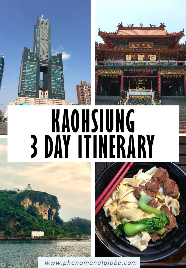 Planning a trip to Kaohsiung? This 3-day Kaohsiung itinerary will help you plan the perfect Kaohsiung trip. Including the best things to do in Kaohsiung, travel budget information, where to stay, how to get from Kaohsiung Airport to the city center, how to rent a bike in Kaohsiung and where to find delicious food. #Kaohsiung #Taiwan