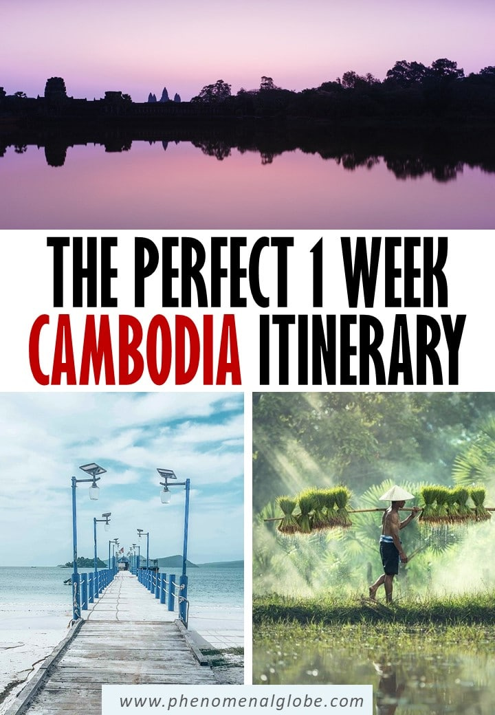 Planning a trip to Cambodia? This detailed one-week Cambodia itinerary includes Kampot, Phnom Penh, and Siem Reap (Angkor Wat) and suggestions where to go in Cambodia when you have more time (Koh Rong, Kampong Chhnang and Battambang). #Cambodia #SoutheastAsia #AngkorWat