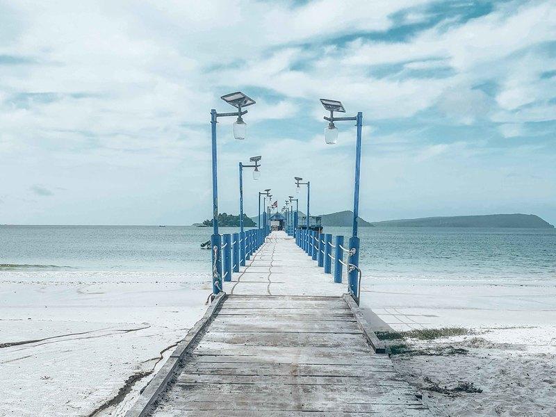 Deserted pier on Koh Rong Cambodia