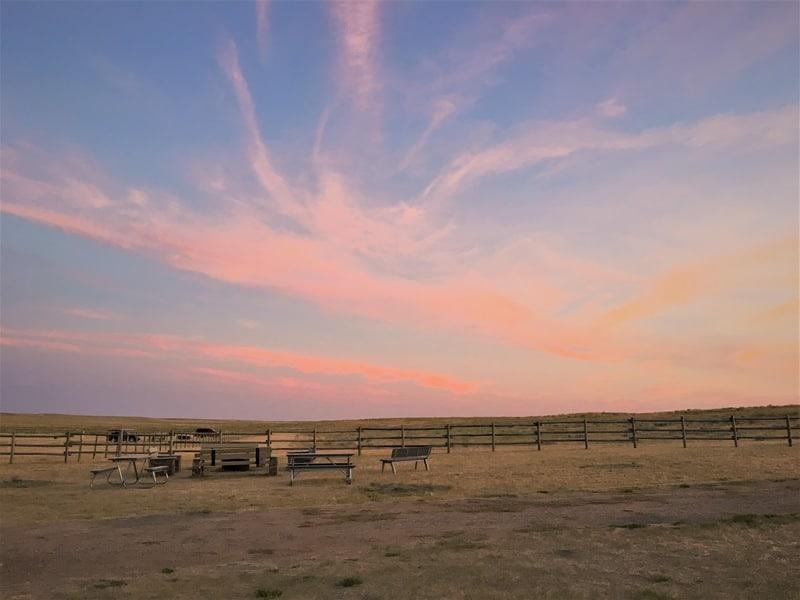 Frenchman Valley Campsite Grasslands National Park Saskatchewan