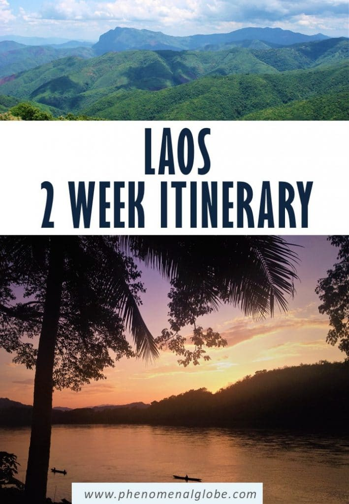 Planning a trip to Laos? This 2-week itinerary for Luang Prabang, Vang Vieng and Vientiane will help you plan an unforgettable trip! Including the best things to do in Laos, information how to get from A to B and a travel map. #Laos #LuangPrabang #VangVieng #Vientiane #SEAsia