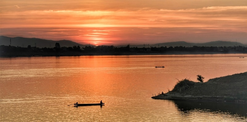 Sunset Don Det Laos