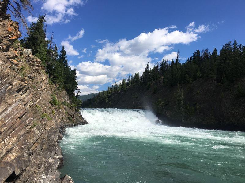 Bow Falls in Banff, Alberta