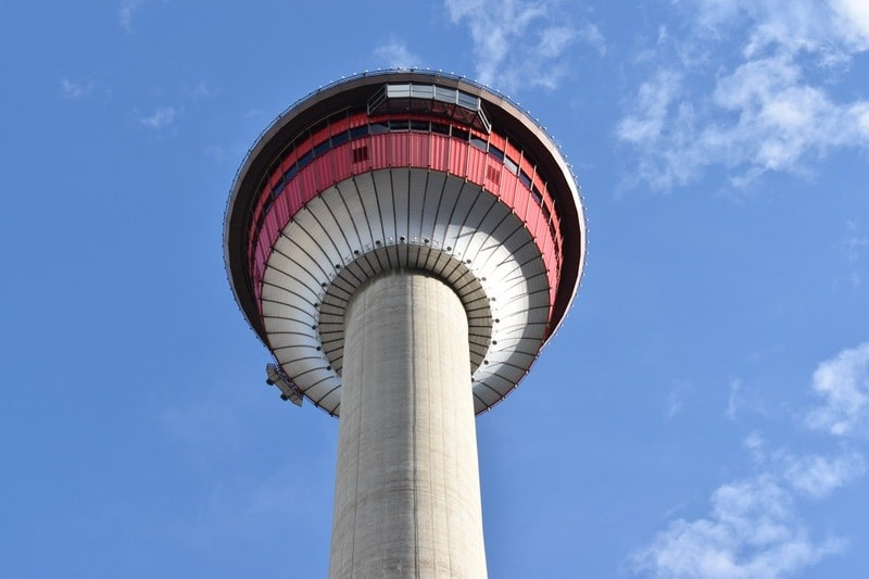 Calgary Tower from below