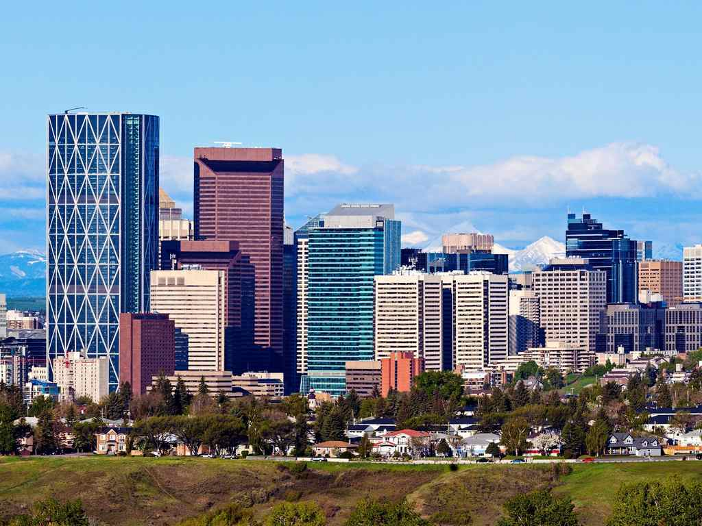 Calgary office skyline