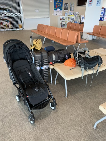 Family luggage in Japan