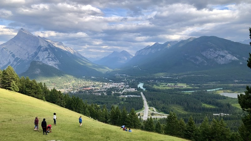 Mount Norquay viewpoint Banff in summer