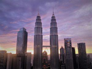 Petronas Towers in Kuala Lumpur twilight