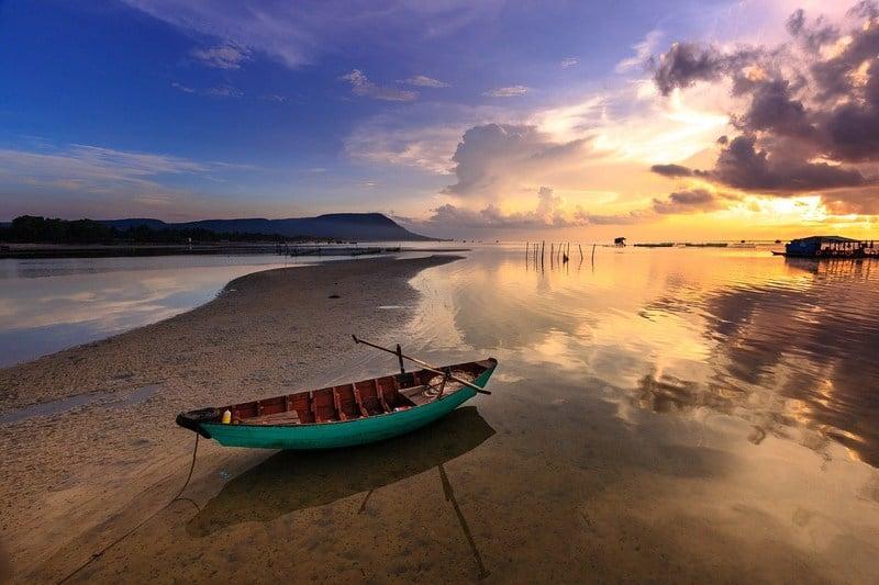 Sunset on Phu Quoc Island Vietnam