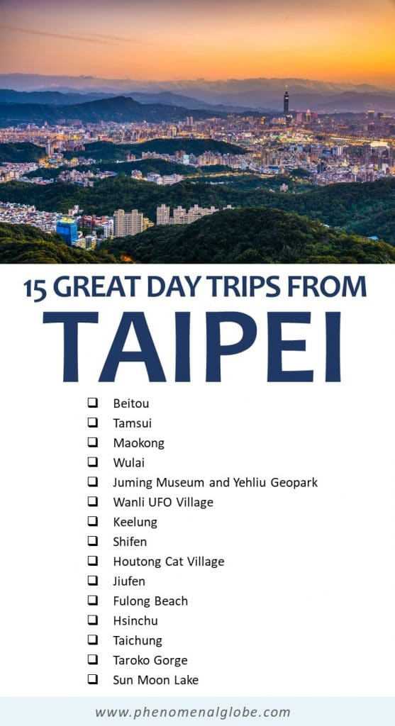 Looking for the best day trip from Taipei? Read about 15 fun Taipei day trips including Yeliu, Jiufen, Beitou, Maokong and more! #Taiwan #Taipei