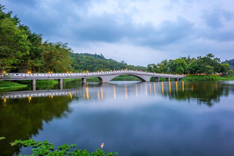 Ching-Tsao Lake or Green Grass Lake in Hsinchu Taiwan