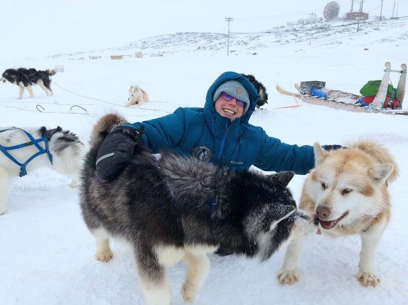 Dog sledding in Iqaluit Nunavut - photo by Voyageur Tripper