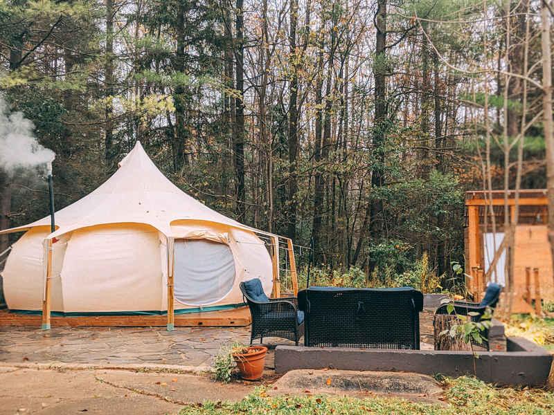Glamping Yurt Grey County Canada
