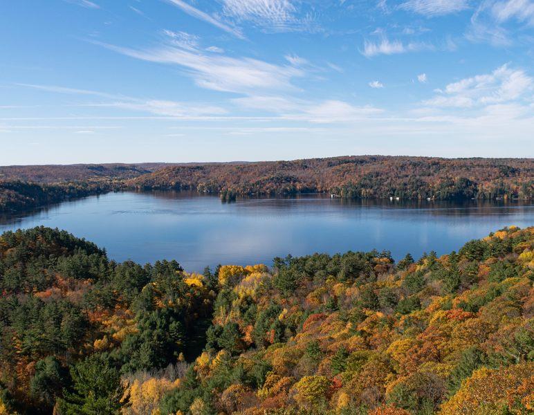 Lake Muskoka in autumn Ontario