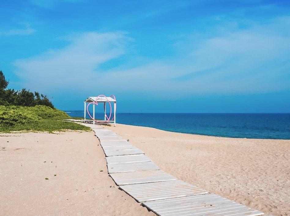 Lintou Beach pavilion on Penghu Island