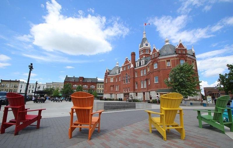 Market Square Downtown Stratford -photo by Stratford Tourism