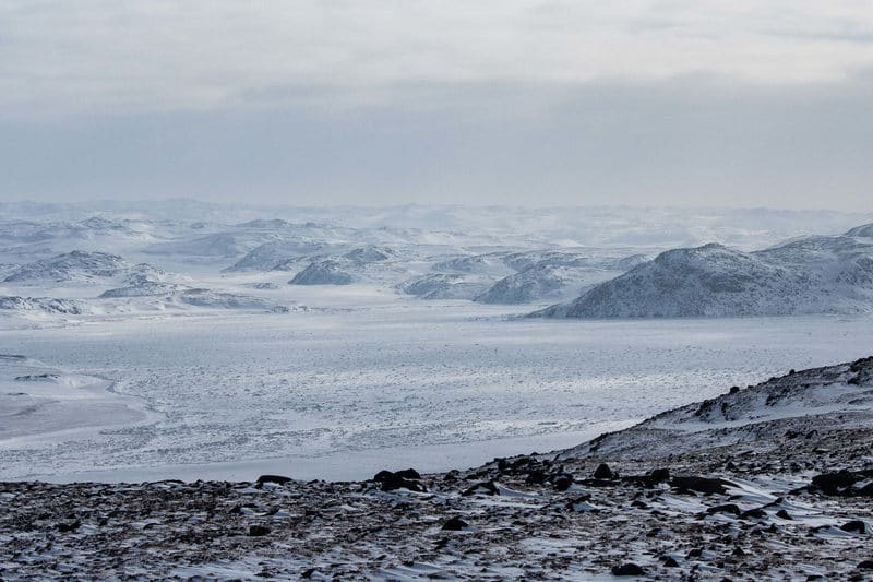 Nunavut Iqaluit Snowmobiling view of Tundra - photo by Voyageur Tripper