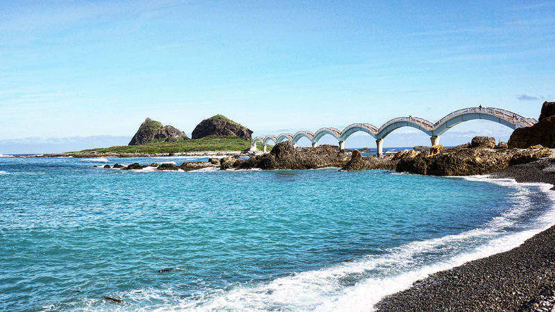 Sanxiantai Dragon Bridge and Sanxiantai Beach, Taitung County Taiwan
